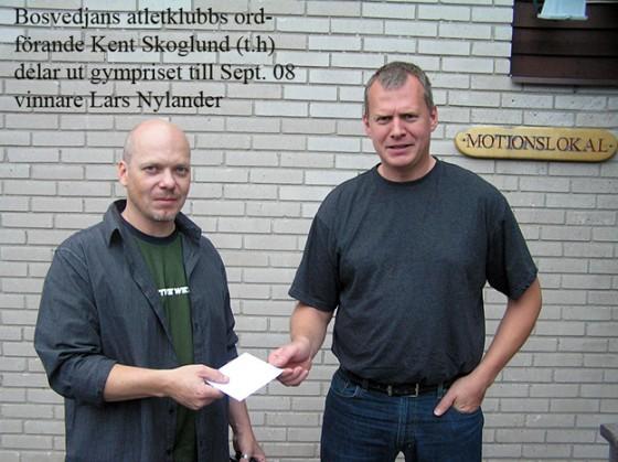 Lars Nylander vann månadslotteriet september 2008
