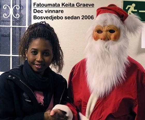 Fatoumata Keita Graeve vann månadslotteriet december 2008