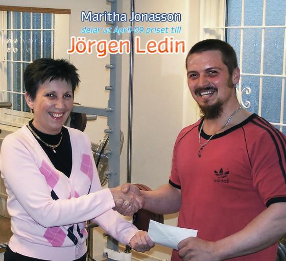 Jörgen Ledin vann månadslotteriet april 2009