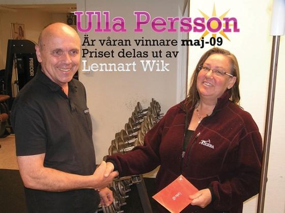 Ulla Persson vann månadslotteriet maj 2009