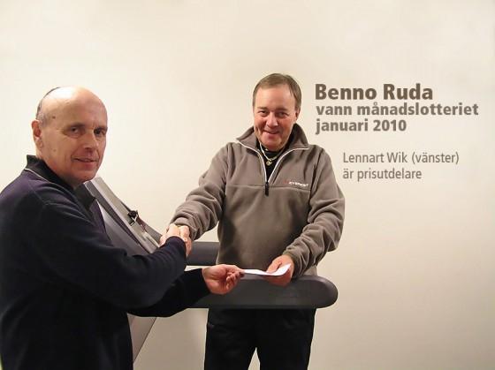 Benno Ruda vann månadslotteriet januari 2010